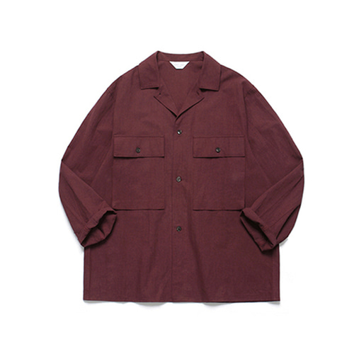 [LAFUDGESTORE]Ancho Wide Shirt_Wine