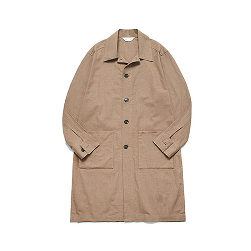 [LAFUDGESTORE]Long Slip Solid Shirt Coat