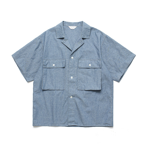 [LAFUDGESTORE]Ancho Wide 1/2 Shirt_Chambray