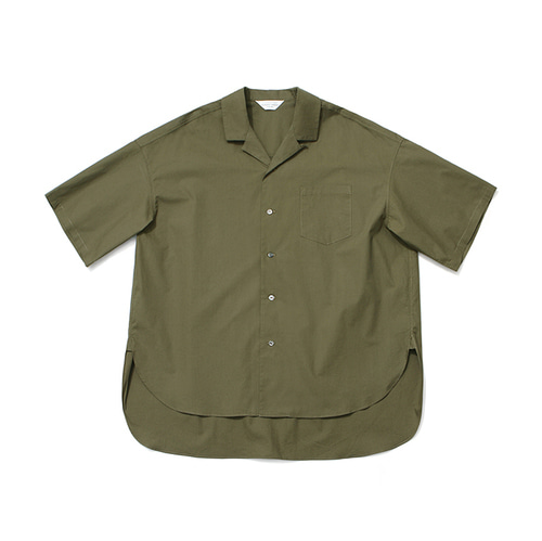 [LAFUDGESTORE]Over Wide 1/2 Shirt_Khaki