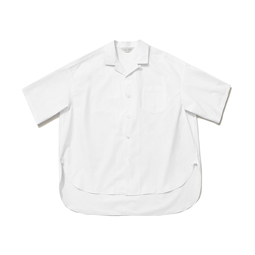 [LAFUDGESTORE]Over Wide 1/2 Shirt_White