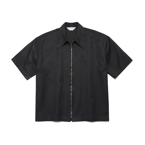 [LAFUDGESTORE]Two Way 1/2 Shirt Jacket_Black