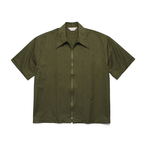 [LAFUDGESTORE]Two Way 1/2 Shirt Jacket_Khaki