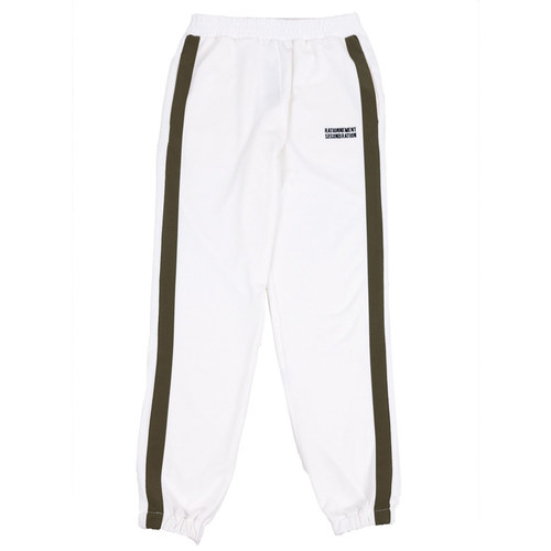 [RATIONNEMENT] Striped Jogger Pants White
