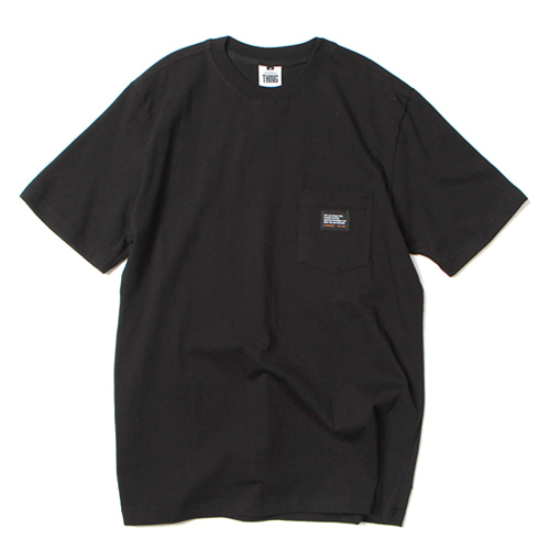 [앱놀머씽] Pocket T-Shirt (Black)