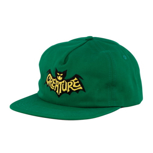 [CREATURE] BATTY  ADJUSTABLE SNAPBACK  - DARK GREEN