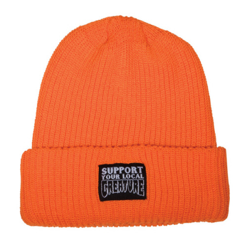 [CREATURE] SUPPORT  LONG SHOREMAN BEANIE  - SAFETY ORANGE