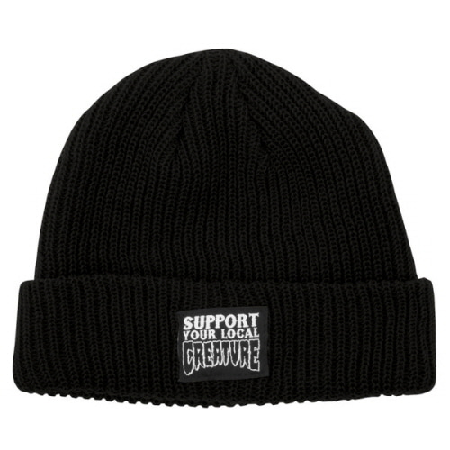 [CREATURE] SUPPORT  LONG SHOREMAN BEANIE  - BLACK