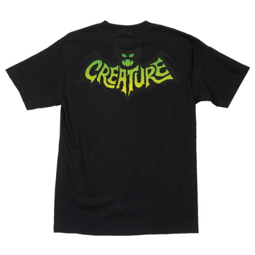 [CREATURE] BATTY  S/S TEE - BLACK