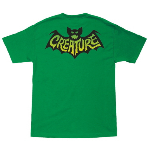 [CREATURE] BATTY  S/S TEE - KELLY GREEN