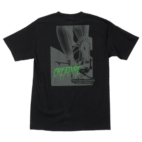 [CREATURE] NOTHING S/S TEE - BLACK