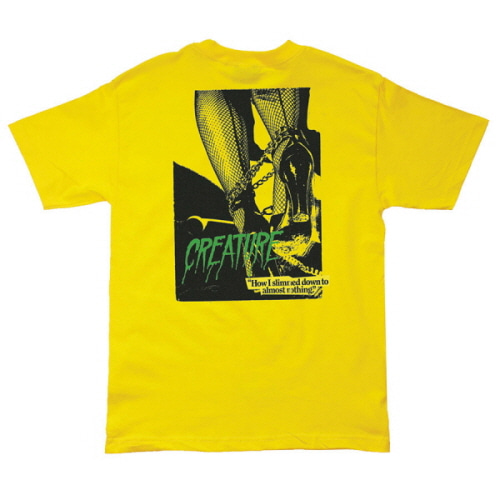 [CREATURE] NOTHING S/S TEE - YELLOW