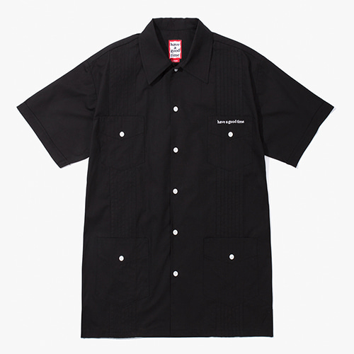 [Have a good time] Cuban S/S Shirts - Black