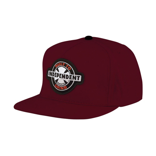 [INDEPENDENT] 95 BTG RING ADJUSTABLE SNAPBACK  - MAROON