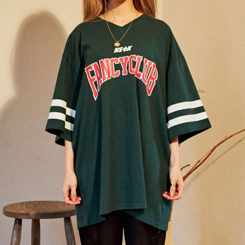 [NSTK] FANCY CLUB FOOTBALL TEE (GREEN)