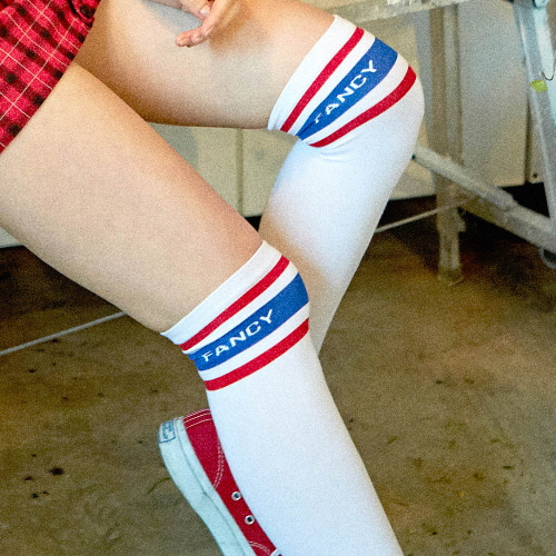 [NSTK] FANCY GIRLS SKATE SOCKS (WHT)