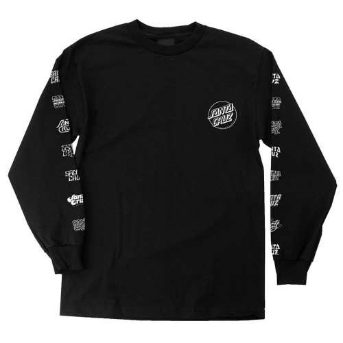 [SANTA CRUZ] MULTI CRUZ  L/S TEE - BLACK