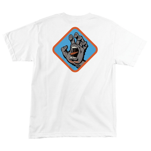 [SANTA CRUZ] SCREAMING HAND BADGE S/S TEE - WHITE