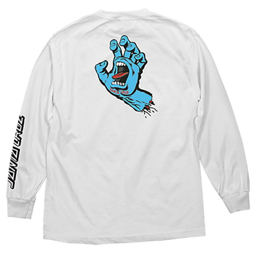 [SANTA CRUZ] SCREAMING HAND  L/S TEE - WHITE