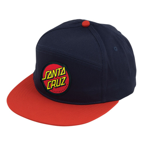 [SANTA CRUZ] DOT  ADJUSTABLE SNAPBACK  - NAVY/ RED