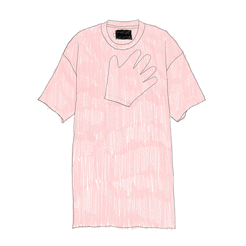 [DBSW] Hands on chest T-shirts Pink