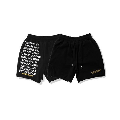 [FIFTEEN MILLION] 01 LOGO PANT [Black]