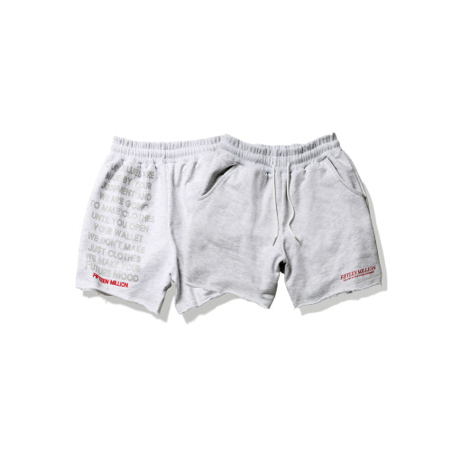 [FIFTEEN MILLION] 03 LOGO PANT  [White]