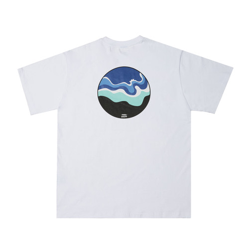 [Feel Enuff] OCEAN T-SHIRTS - WHITE