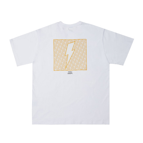 [Feel Enuff] THUNDER T-SHIRTS - WHITE