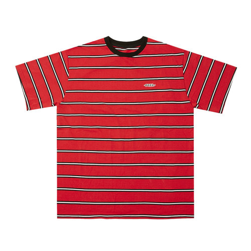 [Feel Enuff]BORDER T-SHIRTS - RED