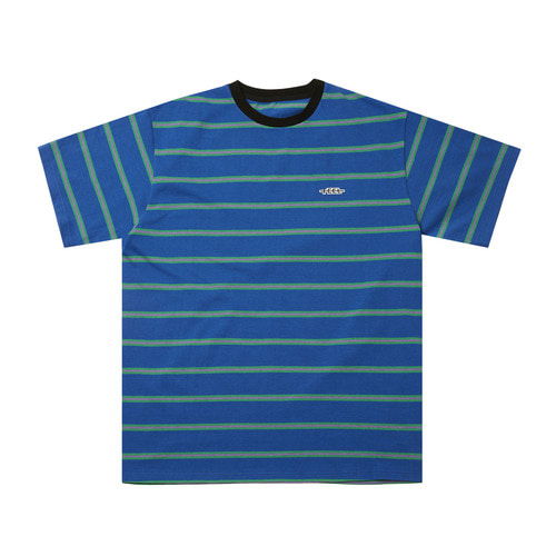 [Feel Enuff]BORDER T-SHIRTS - BLUE