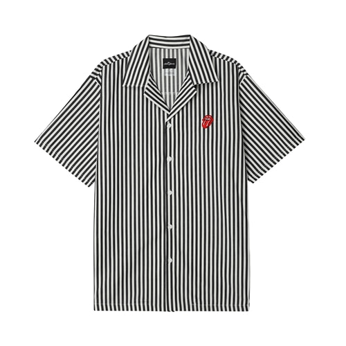 [BRAVADO] TRS CLASSIC TONGUE STRIPE OPEN SHIRT BK (BRENT1719)