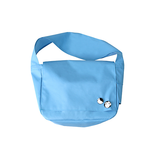 [AJOBYAJO] Plain Messenger Bag [Sky Blue]
