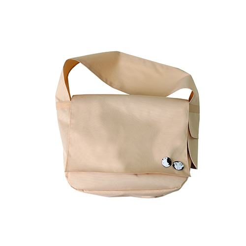 [AJOBYAJO] Plain Messenger Bag [Beige]