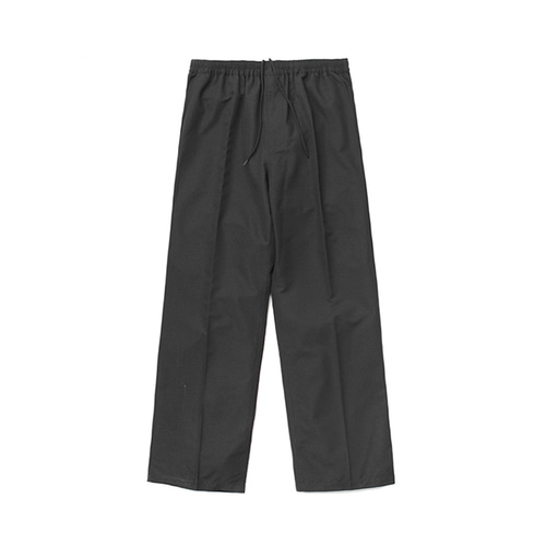 [LAFUDGESTORE] (Unisex) Air Cooling Wide Slacks_Black