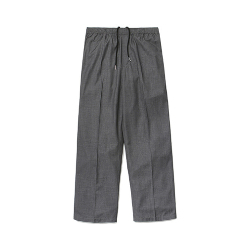 [LAFUDGESTORE] (Unisex) Air Cooling Wide Slacks_Gray