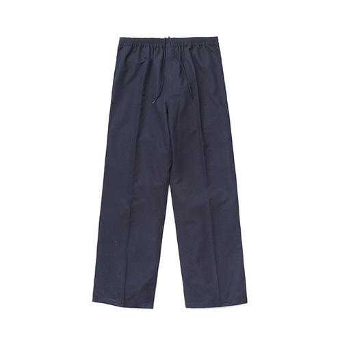 [LAFUDGESTORE] (Unisex) Air Cooling Wide Slacks_Navy