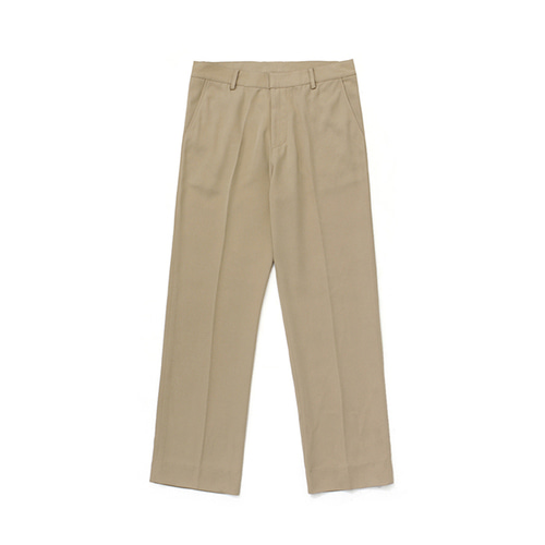 [LAFUDGESTORE]Frais Long Wide Slacks_Beige