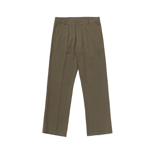 [LAFUDGESTORE]Frais Long Wide Slacks_Cocoa