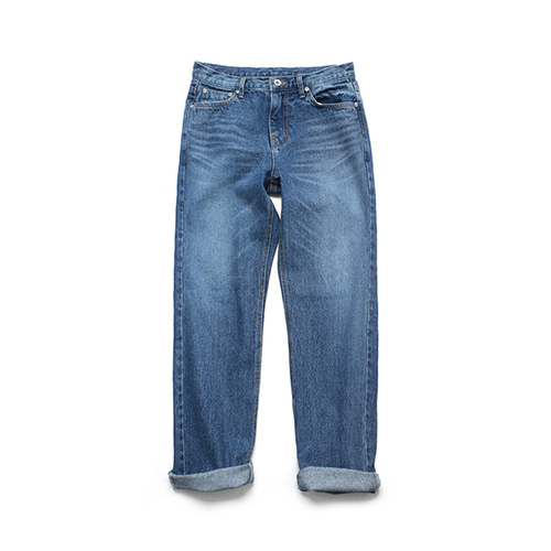 [LAFUDGESTORE]Relax Fit Denim_Deep Blue