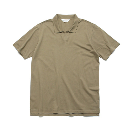 [LAFUDGESTORE]PK Slip collar Tee_Brown