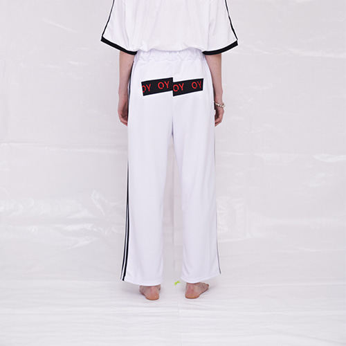 [OY] TAPE LINE PANTS - WH
