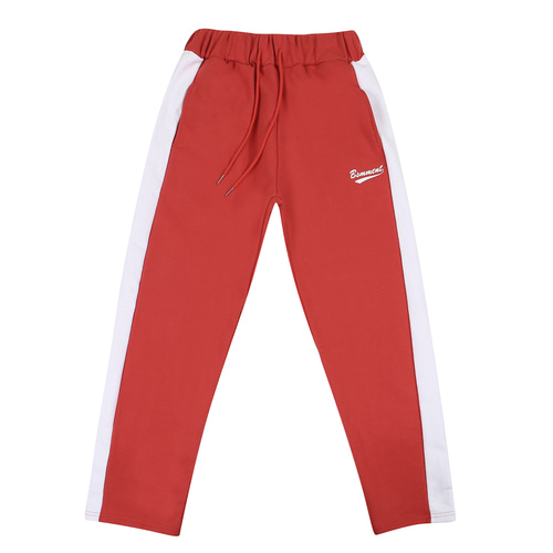 [BASEMOMENT] Line Sweatpants - Red