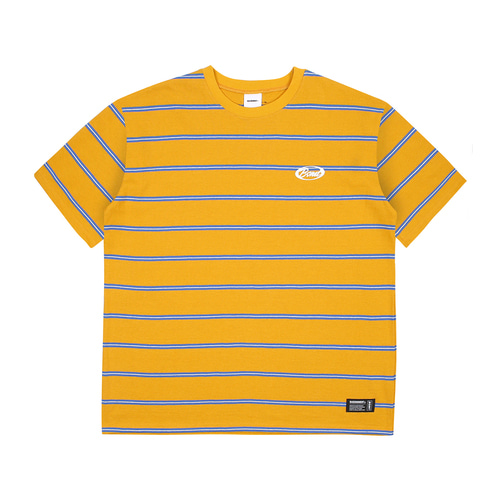 [BASEMOMENT] Stripe Border tee - Yellow