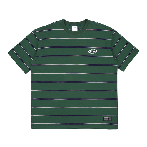 [BASEMOMENT] Stripe Border tee - Green