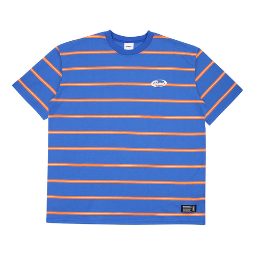 [BASEMOMENT] Stripe Border tee - Blue