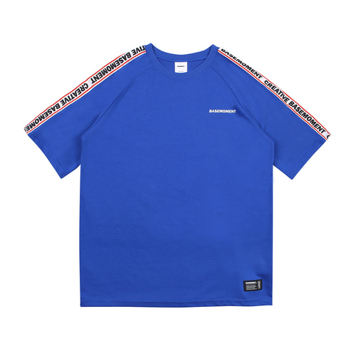 [BASEMOMENT] Tape Line tee - Blue
