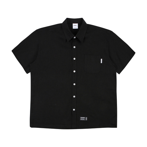 [BASEMOMENT] Linen S/S Shirt - Black