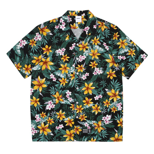 [BASEMOMENT] Aloha S/S Shirt - Black