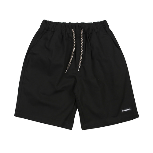 [BASEMOMENT] Chino Half Pants - Black
